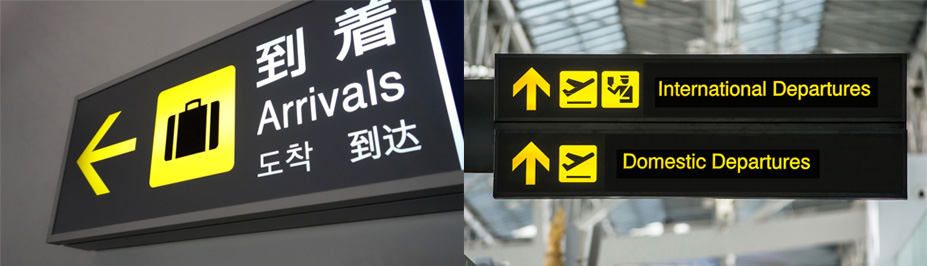 señales estandarizadas aeropuerto